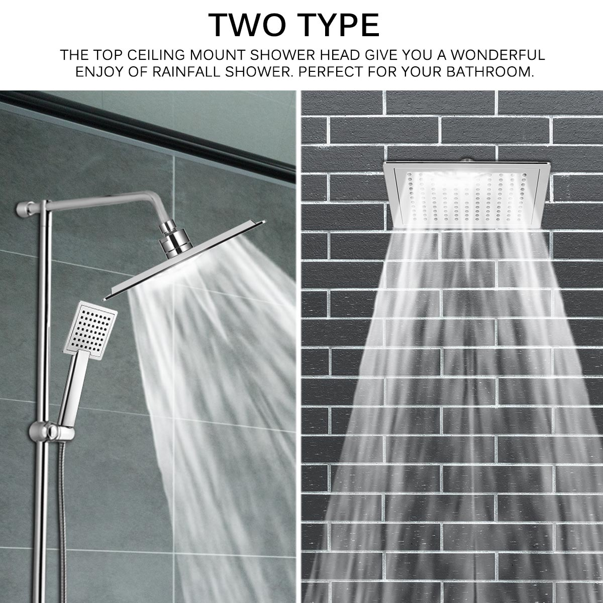 Us 14 89 40 Off 22 22cm Showerheads 12 Inch Square Rainfall Shower Head Ultra Thin Rain Shower Head Rain Shower Faucet Chrome Finish Square In