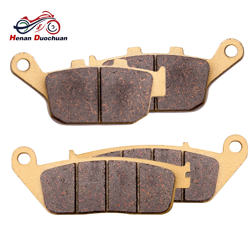 4pcs Motorcycle Front Rear Brake Pads For HONDA CB <font><b>400</b></font> CB 1300 F1 SC40 cbr 250 VT 250 CB-1 VTR 250 CB 500 NTV 650 <font><b>NX</b></font> 650 FMX #ce image