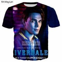 3D Printed Riverdale Tshirt Men/Women Hip Hop Streetwear T-shirt Boy Modis T shirt Tops Man Blue Clothes camiseta masculina 5XL
