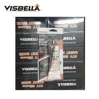 VISBELLA 144pcs/carton RTV Grey Natural Gasket Maker High Temperature Silicone Sealant Rubber Moisture Proof Glue Car Engine