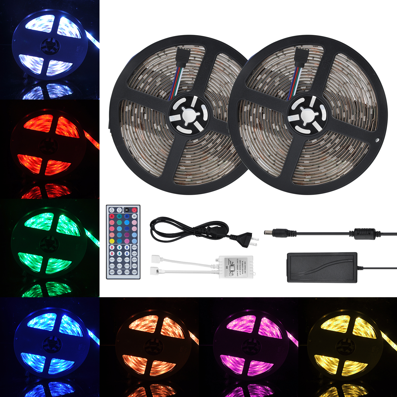 300 LED s 10 M Ruban Noir Ruban Flexible IP65 300 LED Bande Rétroéclairage LED Imperméable RVB 5050 DC12V 5A Lumière LED