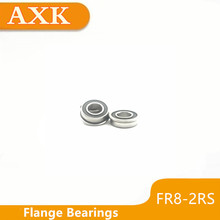 2019 Real Axk 10pcs Fr8rs Flanged Balls Bearing High Precision Abec-3 Z2v1 Fr8-2rs 1/2 X 1-1/8 5/16 Inch 12.7x28.575x7.938mm