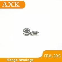 2019 Real Axk 10pcs Fr8rs Flanged Balls Bearing High Precision Abec-3 Z2v1 Fr8-2rs 1/2