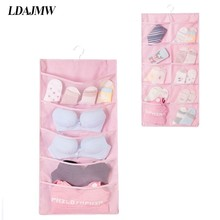 Multi layer Multi color Double sided Storage Bag Dormitory Bedroom Socks, Gloves Wall mounted Storage Underwear organizer