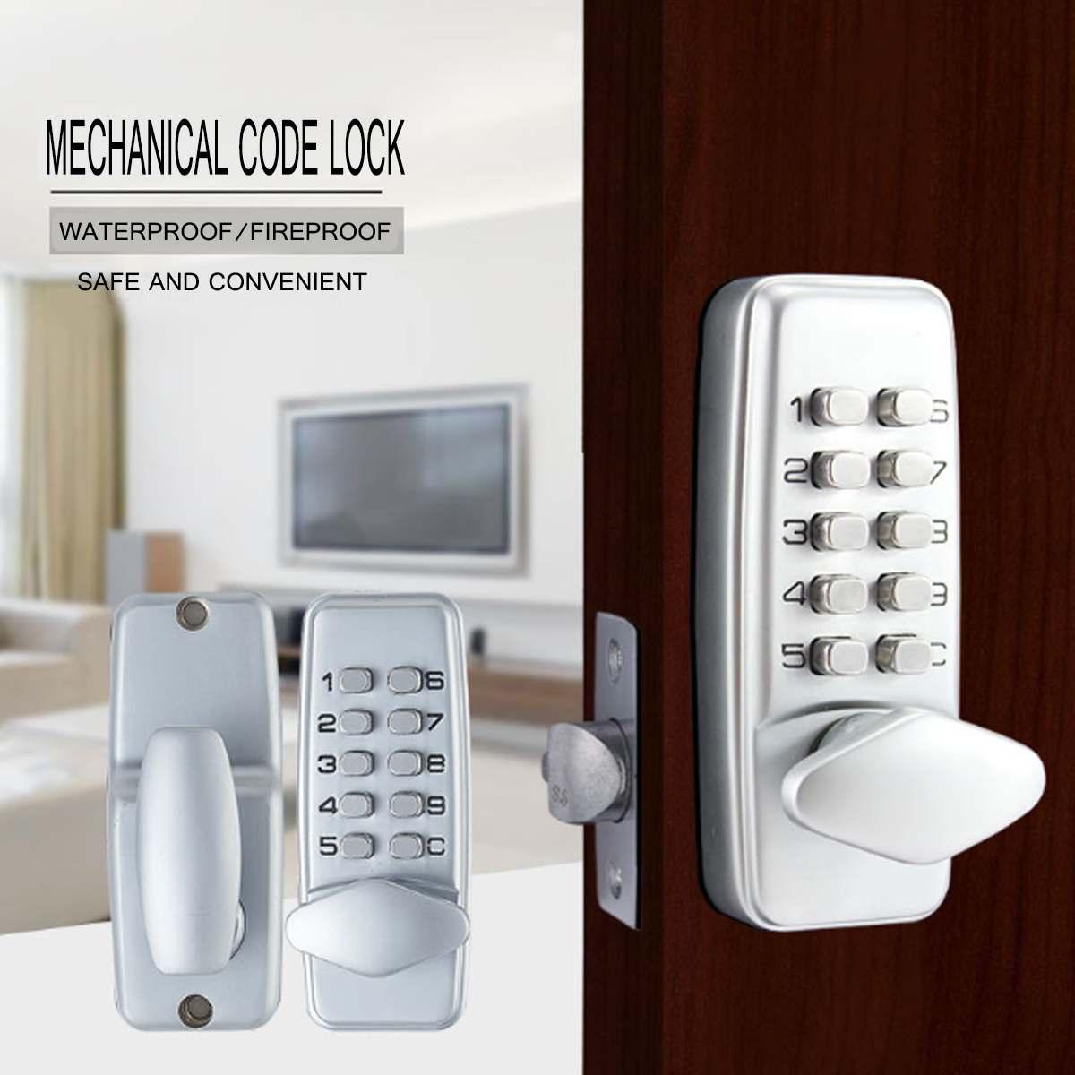 Serrure numérique mécanique de porte de combinaison sans clé d'alliage de Zinc aucune serrure de Code de bouton poussoir de puissance pour le matériel de meubles à la maison