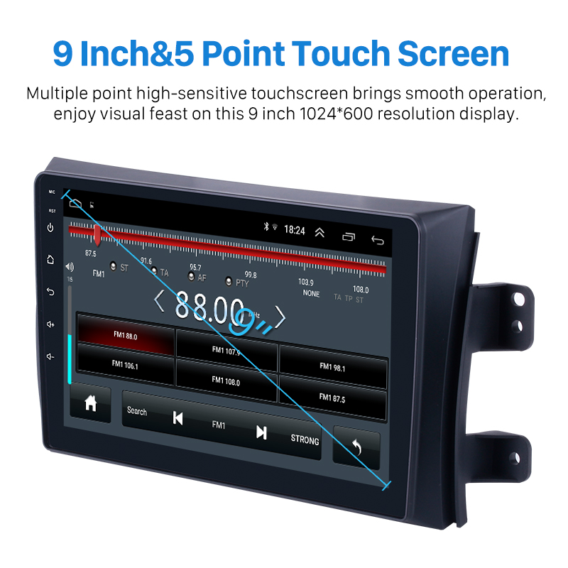 Autoradio Seicane pour 2006-2012 Suzuki SX4 Android 8.1 9 pouces 2Din HD écran tactile GPS lecteur multimédia Support Bluetooth WIFI - 3