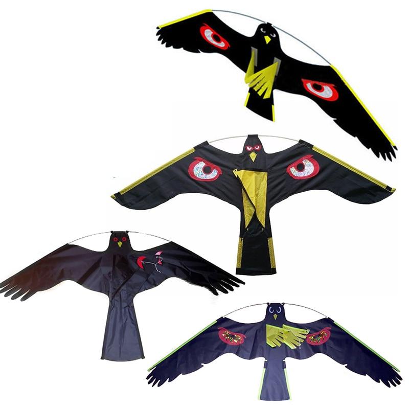 1 stücke Mayitr Schwarz Vogel Repeller Fliegen Hawk Kite Decoy Insekt Pest Control Für Scarecrow Hof Garten Liefert