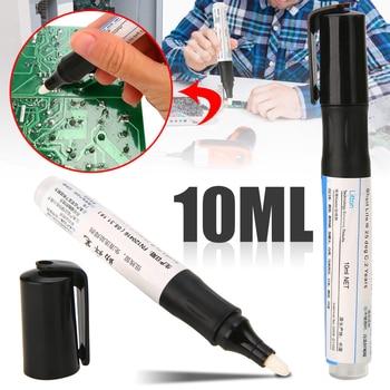 цена на 1PCS Welding Soldering Rosin Flux Pen Low-Solid Non-Clean Surface Mount Solar Panel Portable 10ml Solder Flux Pen