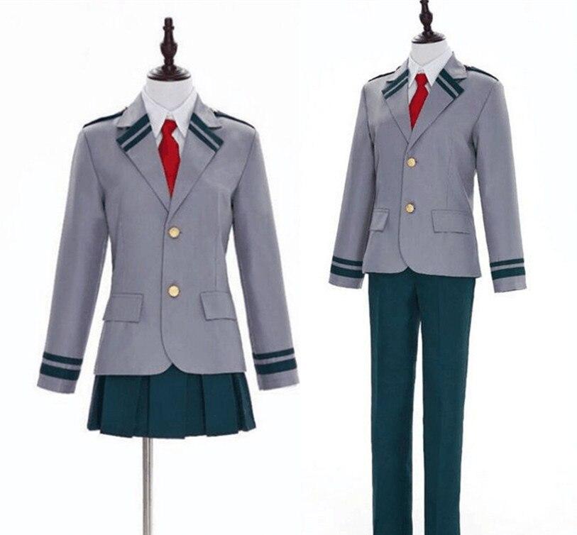 My Boku no Hero Academia School Uniform Cosplay Costume Izuku Shoto Asui Ochako Custom Made Free