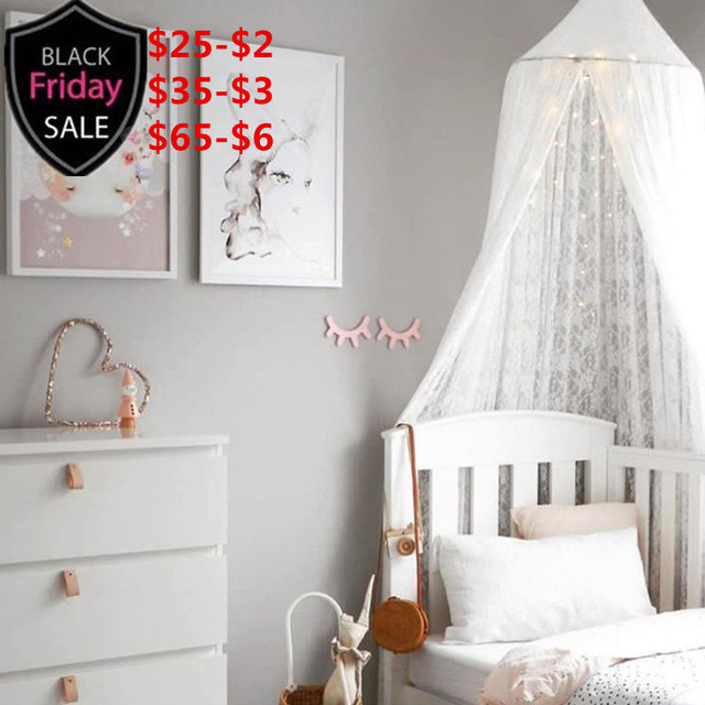 Romantic Hung Dome Princess Bunk White Lace Mosquito Net Tents Bed ...