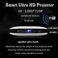 Mini Portable Projector 4K Wireless WiFi Bluetooth DLP 3D Video Beamer 2G+16G Memory Multimedia Projector for Home Theater Outdo