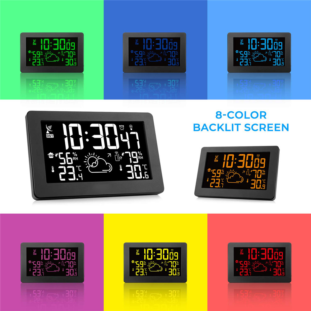 PT3378A Color Display Wireless Weather Station Indoor Outdoor Digital Weather Thermometer Barometer