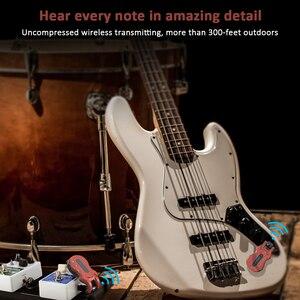 Image 5 - Ammoon Kablosuz Gitar Sistemi dijital gitar verici alıcı Dahili şarj edilebilir pil 300 Feet İletim Aralığı