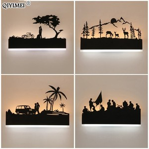 Image 4 - Romantic Wall lamps acrylic lampshade lighting fixture upside warm down cool for living room bedside Animal lights AC110 260V
