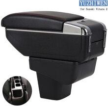 Для Suzuki Vitara подлокотник коробка Vitara 2 Универсальный Автомобильный центральный подлокотник коробка для хранения держатель стакана, пепельница Модификация аксессуары