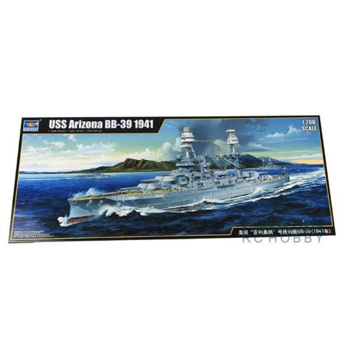 <font><b>Trumpeter</b></font> 1/200 03701 USS BB-39 Arizona Warship 1941 Model Kit Static Battleship TH05337-SMT2 image