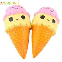 Большая игрушка для мороженого 23 см, мягкая игрушка Kawaii Jumbo, медленно поднимающаяся, забавная игрушка на ремешке для телефона, Подарочные игрушки для детей, мальчиков и девочек