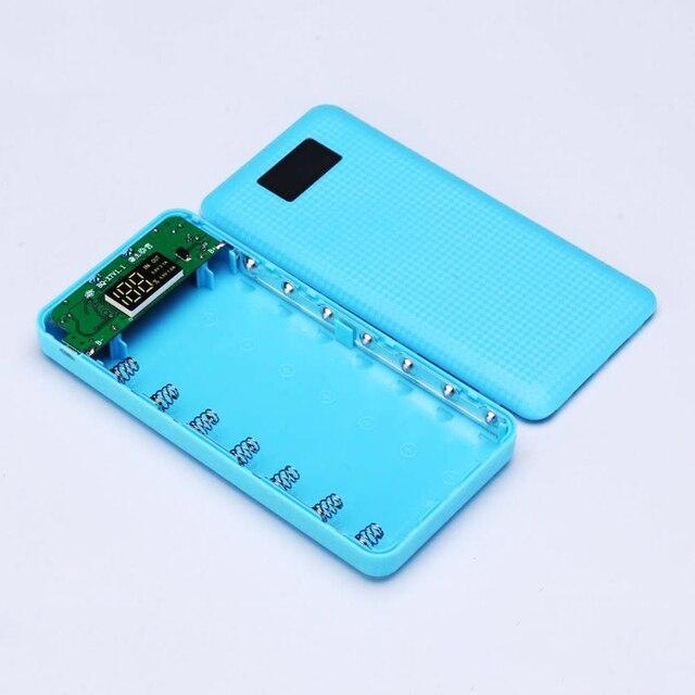 Hot Hàn Miễn Phí 3USB 7x18650 Pin DIY Chủ LCD Ngân Hàng Điện Hiển Thị Trường Hợp Hộp Điện Thoại Di Động Bộ Sạc Pin không bao gồm