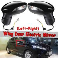 New Car Wing Door Electric Mirror For Ford For Fiesta Mk7 08 12 Rear View Door Mirror Left/ Right Rearview Side Painted Black