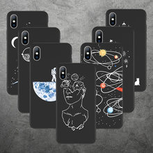 Lovebay Silicone Cover Case For iPhone 6 6s 7 8 Plus X XR XS Max 5s SE Soft Phone Case Moon Stars Planet Back Coque For iPhone X(China)