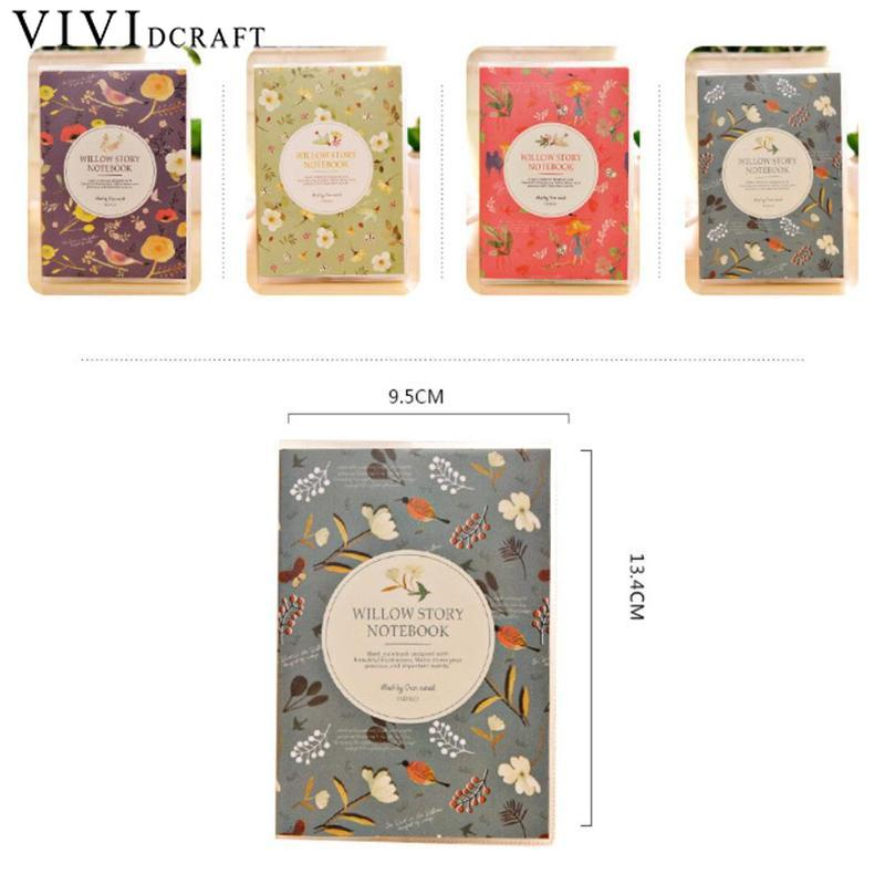 64 Page Notepad Portable Diary Book Journal Record Office School Supply For Kids Gifts Color Random Kawaii Stationery Notebook