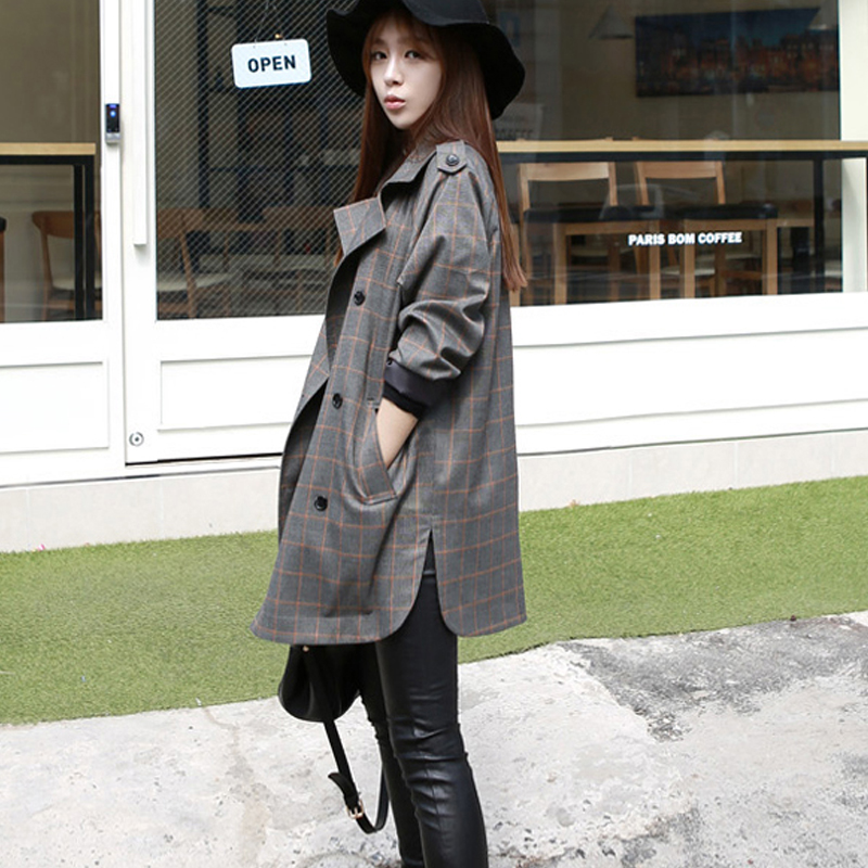 2019 spring new female windbreaker Slim thin female coat spring and autumn double-breasted   trench   coat woman