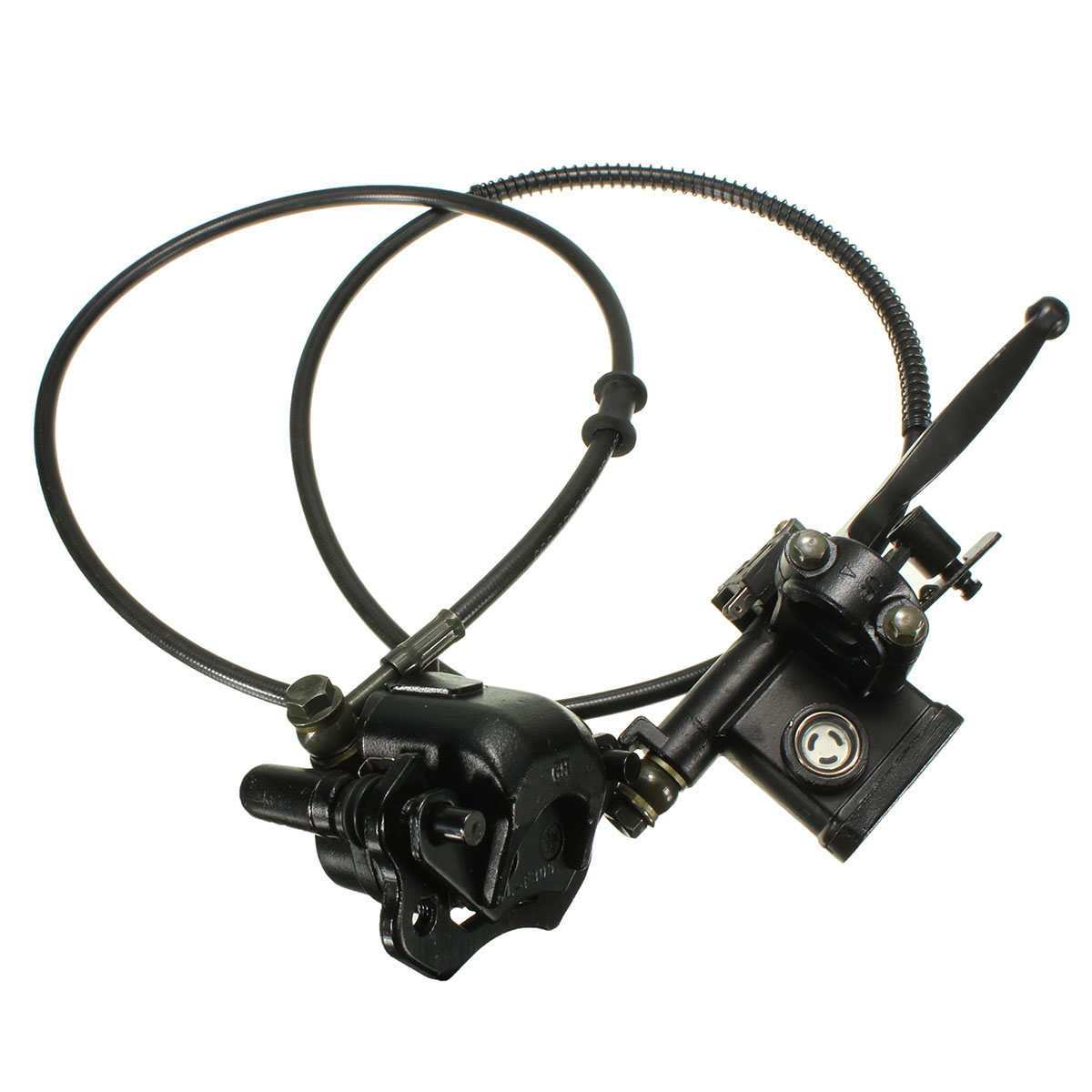 Hydraulic Rear Brake System Assembly KAYO BSE Dirt Bike Pit Bike Master Cylinder Caliper hose For ATV Quad 50CC 70CC 90CC 110CC