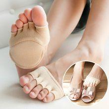 250120f66 Calcetines de Yoga para hombre, mujer, medio dedo del pie, antideslizantes,  calcetines