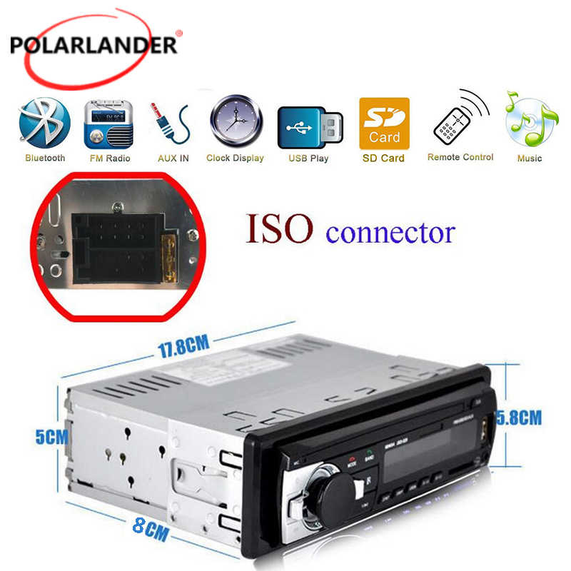 1 DIN カーラジオカーオーディオ FM Bluetooth MP3 オーディオプレーヤー Bluetooth 携帯電話ハンズフリー USB/SD カーステレオラジオダッシュ Aux 入力