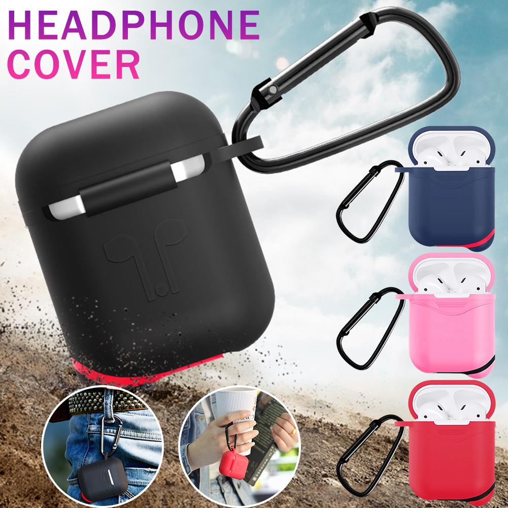 Earphone Protective Case For Apple AirPods Silicone Cover Wireless Bluetooth Headphone Air Pods Pouch Protective For AirPod Case