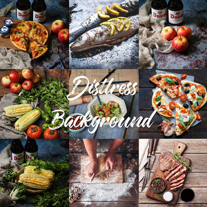 Image 1 - 56*88cm / 22*34.5in Double Sides Wood Marble Cement Wall Like Vintage Photography Background Backdrop Paper Board Prop For Food