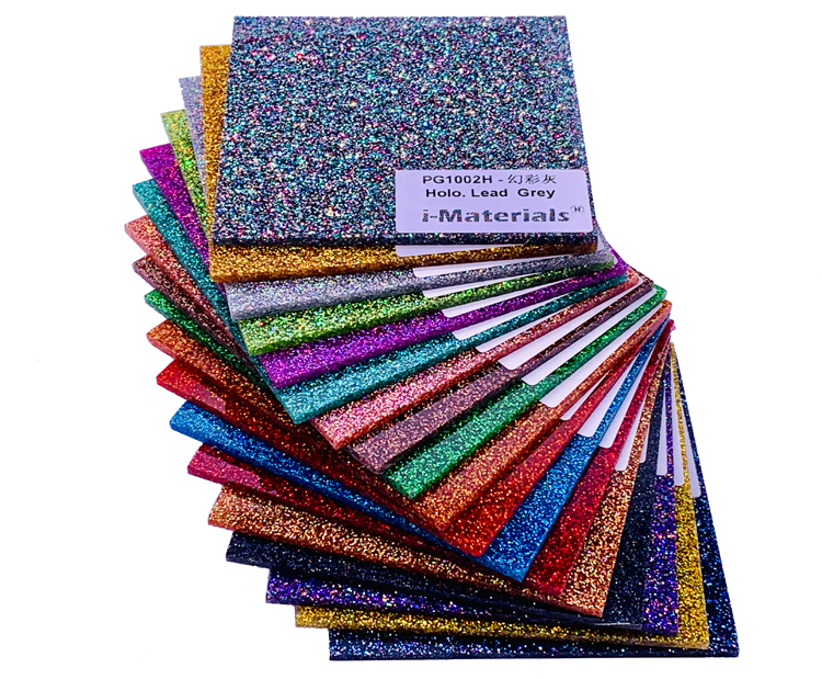 300mm x 300mm x 3.0mm (L x W x T), Multi Colors Acrylic (PMMA) Two Sided Holographic Glittering Sheets   8 pcs/lot-in Plaques & Signs from Home & Garden    2