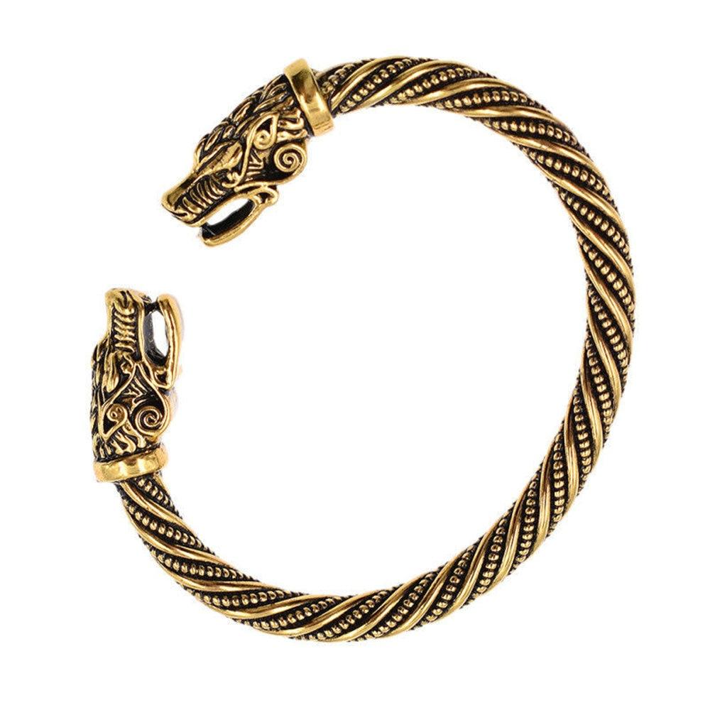 50 pièces/lot tête de Dragon chaude Bracelets Viking hommes bijoux indiens Bracelet accessoires femmes Bracelet manchette Bracelet bijoux Vintage