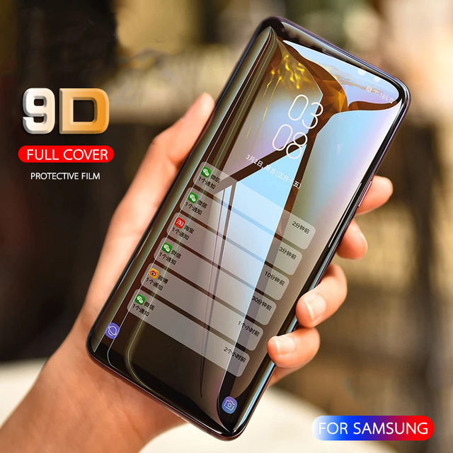 9D Tempered Glass Full Cover For Samsung Galaxy A51 A10 A20 A30 A40 A50 A60 A70 A80 A90 M30S Screen Protector A7 A8 A9 2018 Film