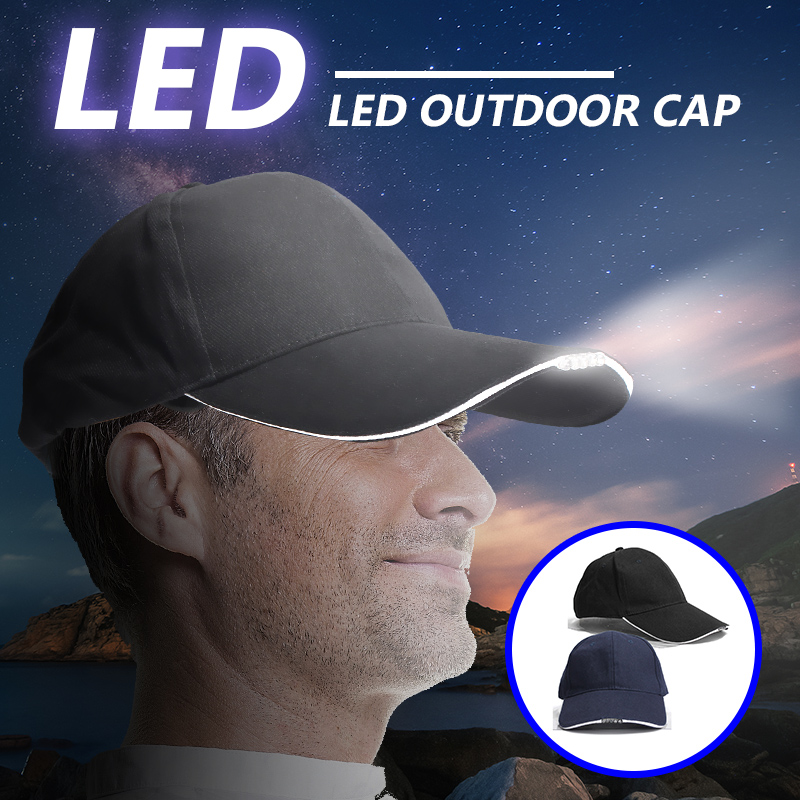 Adjustable Bicycle 5 LED Headlamp Cap Battery Powered Hat With LED Head Light Flashlight For Fishing Jogging Baseball Cap