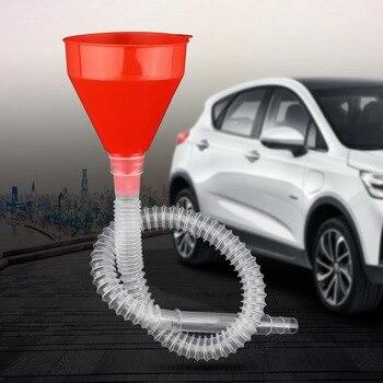 משפך + צינור הארכה למילוי מים, שמן, דלק ברכב ובכלל