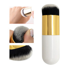 Hot Professional Make-Up Pinsel Chubby Pier Foundation Pinsel Flach BB CC Concealer Creme Kosmetische Tragbare Make-Up-Tool Dropship