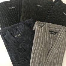 Плюс размер XL традиционное японское кимоно юката мужской хлопковый Халат мужские халаты для отдыха с поясом летние пижамы набор A9091