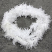 2m Plush Fluffy Ribbons Trimming String DIY Soft Artificial Feather Party Decor Dress(China)