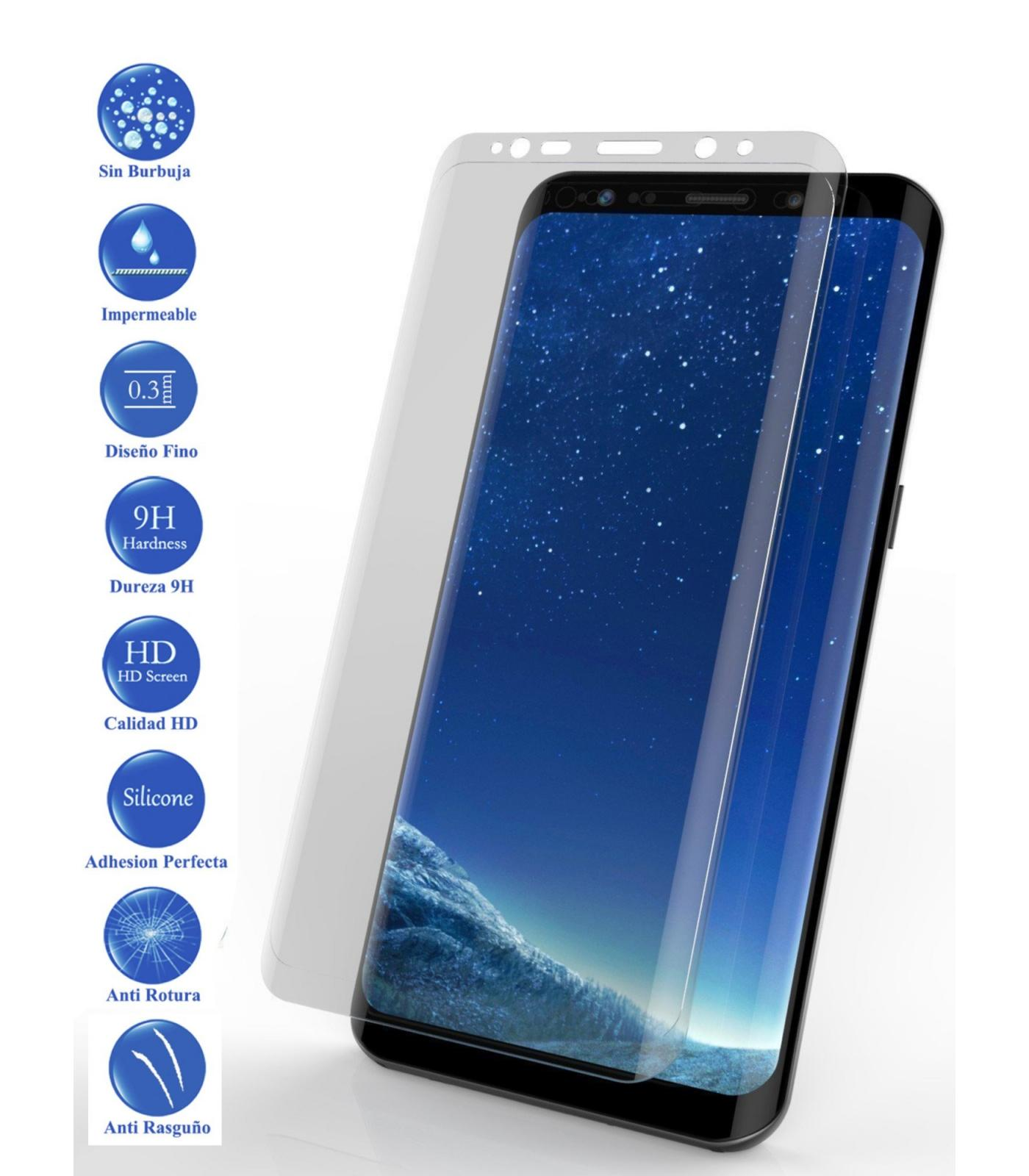 LCD cover screen <font><b>protector</b></font> Full Tempered Glass <font><b>Samsung</b></font> Galaxy <font><b>S9</b></font> Plus Clear image
