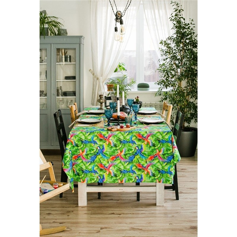 Tablecloth Ethel Parrot, 110 × 150 cm, репс, density 130g/m², cotton 100% аксессуар abus steel o chain 880 110