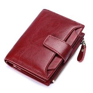 Image 1 - יוקרה מותג נשים של ארנק עור פרה קטן ארנק נשים קצר רוכסן גבירותיי מטבע ארנק כרטיס מחזיק Femme מיני ארנק