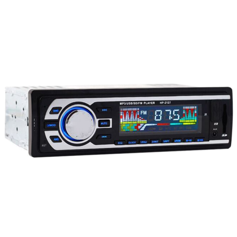 AUTO -New 24V Car Stereo Fm Radio Mp3 Audio Player Support Bluetooth Phone With Usb/Sd Mmc Port Car Electronics In-Dash 1 Din image