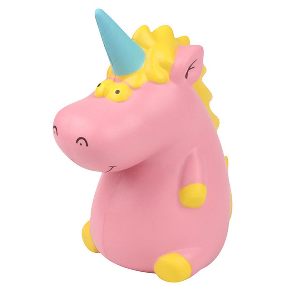 Cute Cartoon Single Horned Hippo Shape Squishy Toy Kids Stress Reliever Children Adult Decompression Vent Toys
