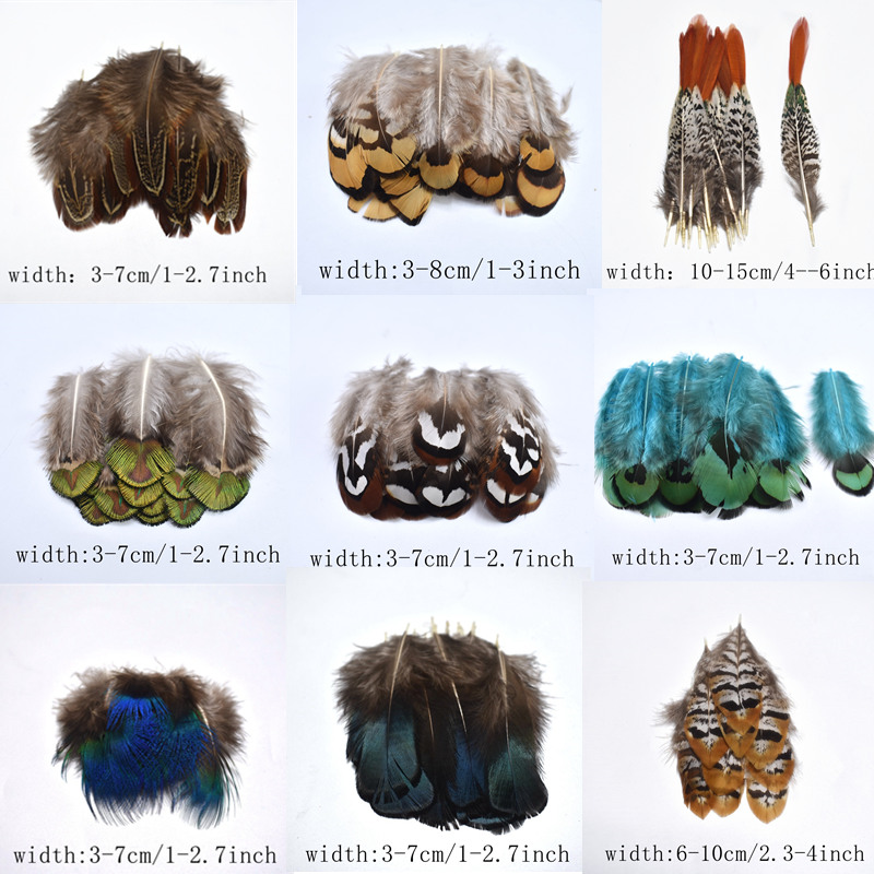 20-100pcs High Quality Natural Pheasant feathers for clothes DIY peacock feathers for jewelry making Decor chicken feather