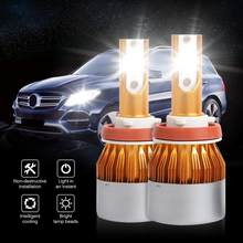 2 Pcs Car LED Headlight Bulbs 6500K Lamp LED Car Lights Headlights Lamps 6500K 8000LM 36W H1 H3 H4 H7 9005 9006 Bulb(China)