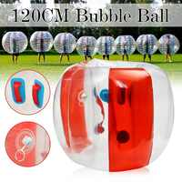 Air Bubble Soccer Zorb Ball 120cm Air Bumper Ball Inflatable Bubble Football Zorb Ball Adult Kids Outdoor Toy Christmas Gift