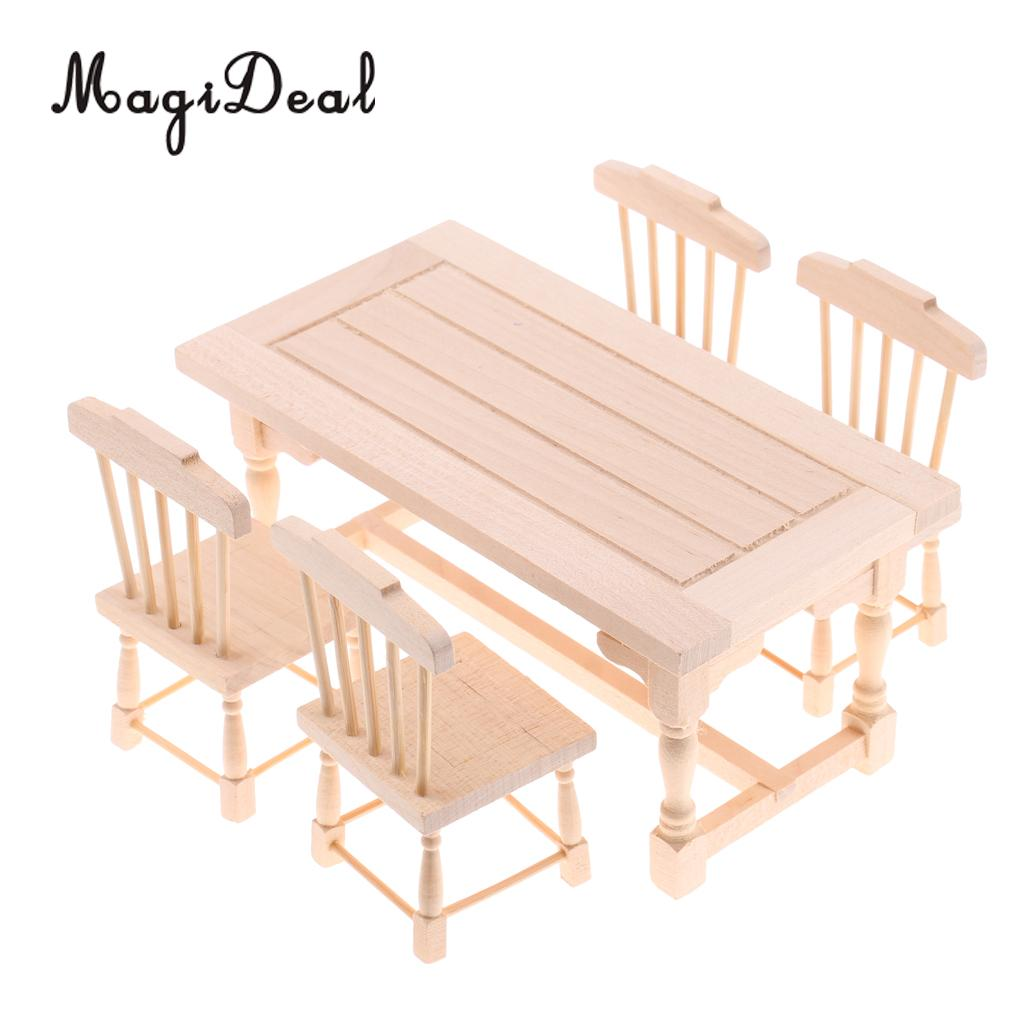 Wood Mini Garden Furniture Armchair for 1:12 Scale Dollhouse Miniatures ACCS