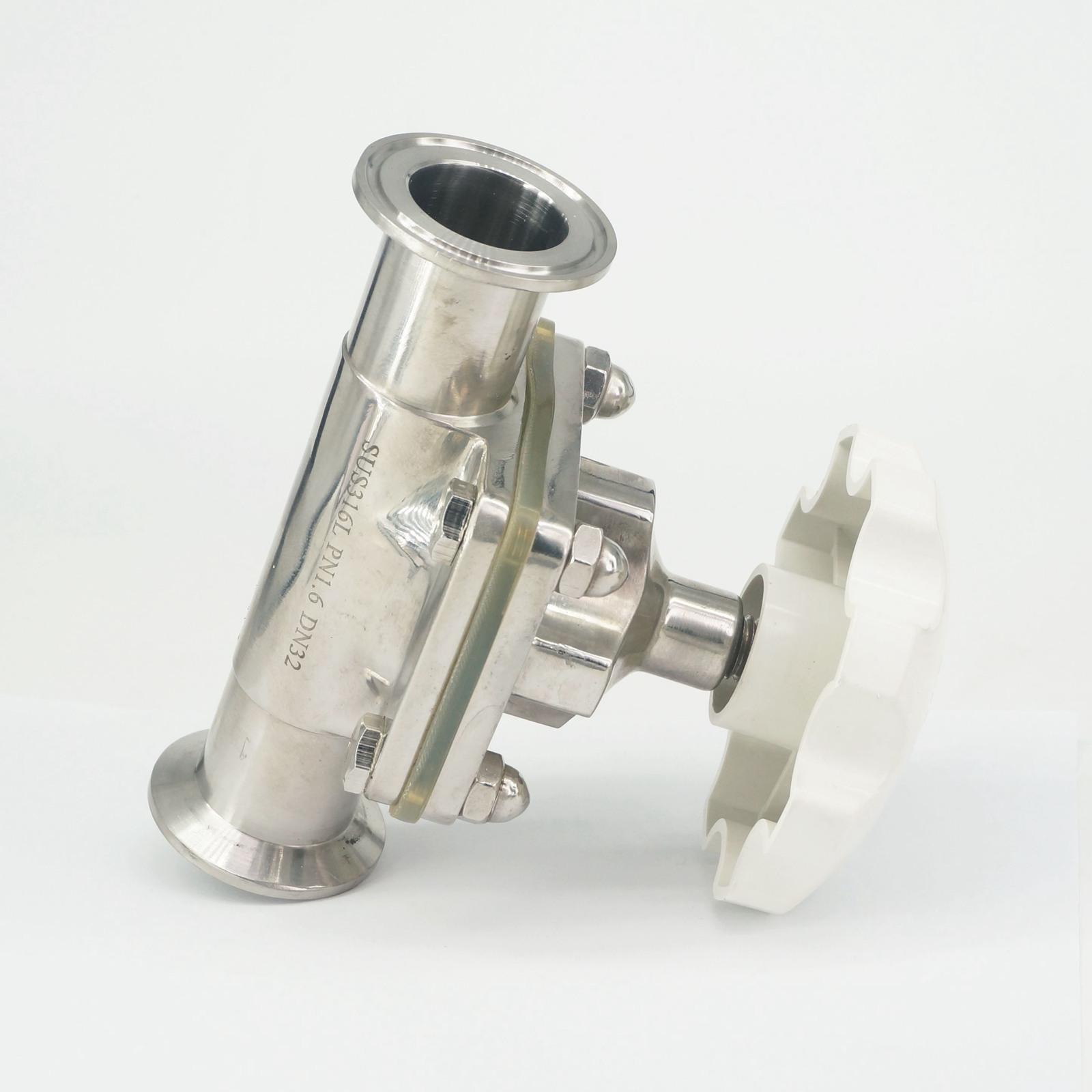 Neueste Kollektion Von 1-1/4 32mm 316 Edelstahl Sanitär Ferrule O/d 50,5mm Tri Clamp Membran Ventil Brauen Bier Milch Produkt Einen Einzigartigen Nationalen Stil Haben Sanitär