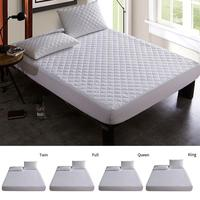 Sanding Quilted TPU Waterproof Mattress Cover Bed Soft Cover Mattress Pad Protector King Queen Full Size C Bed Pad Protector